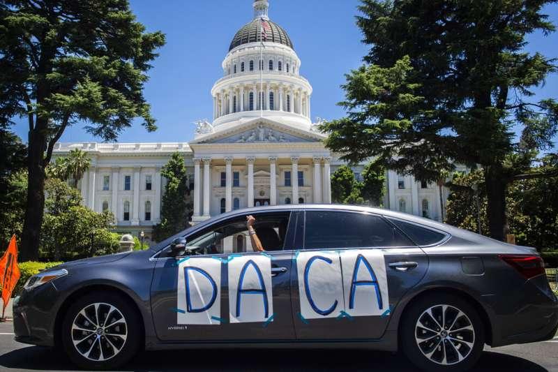 美國聯邦最高法院大法官6月18日以5票比4票作出裁決,反對川普撤銷「逐夢者計畫」(DACA)。(AP)