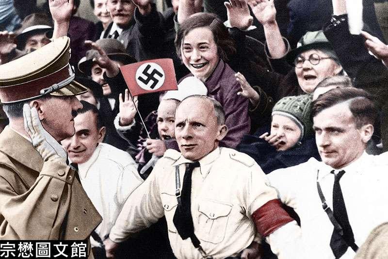 希特勒從一個普通的低階軍官成為掌握生殺大權的獨裁者,不僅靠瘋狂的思想,也依賴一套完整的組織和宣傳的工具。這是希特勒心魔的另一面,成為學界認真研究的對象。(圖/徐宗懋圖文館提供)