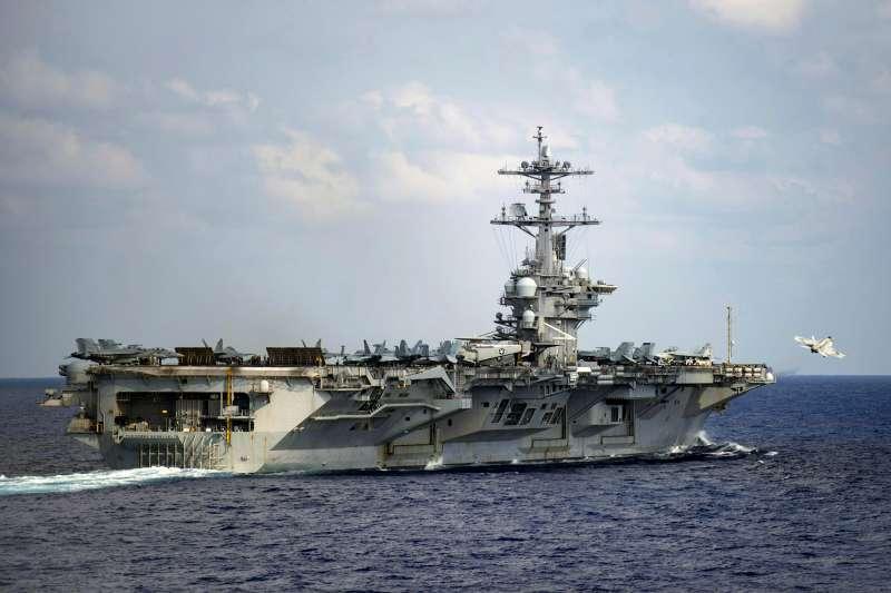 美國海軍航空母艦「羅斯福號」(USS Theodore Roosevelt)。(AP)