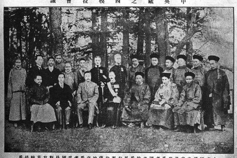 1913年至1914年的西姆拉會議,試圖解決印度、中國與西藏之間的領土與主權爭端(維基百科.公有領域)
