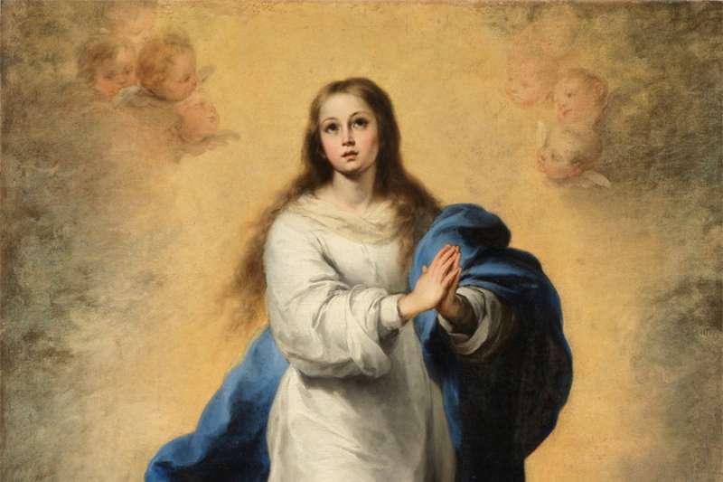 西班牙巴洛克時期畫家牟利羅的著名畫作《無玷聖母》(Wikipedia/Public Domain)