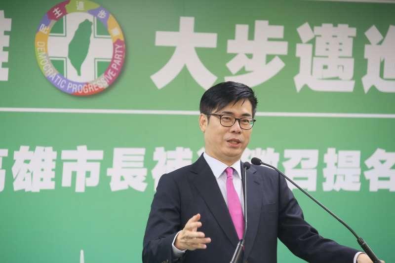 準高雄市長陳其邁(見圖)將於24日走馬上任,21日下午正式公布完整小內閣名單。(資料照,柯承惠攝)