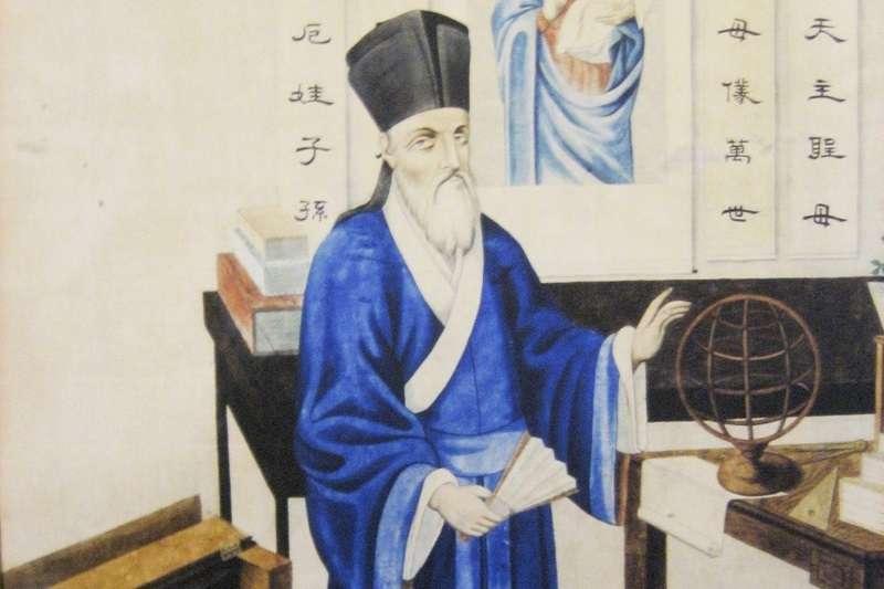 利瑪竇晚期已習慣了穿儒家袍服,蓄中國式長鬚,一派儒生形象。(圖/維基百科)