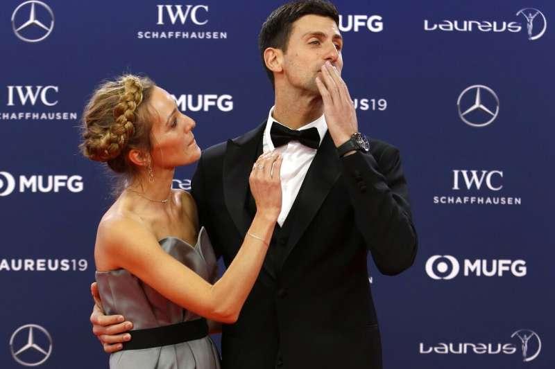 塞爾維亞世界網球天王喬科維奇23日表示自己與妻子伊蓮娜染上新冠肺炎(AP)