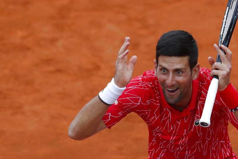 塞爾維亞世界網球天王喬科維奇6月23日表示自己染上新冠肺炎(AP)