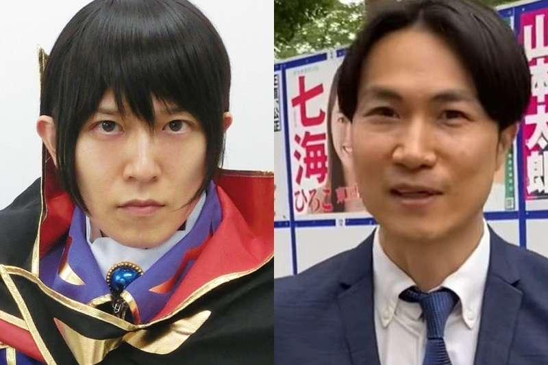 今年共有22人參選東京都知事選舉,部分候選人的政見奇特,如候選人後藤輝樹(左)主張「台灣回歸祖國日本」、候選人平塚正幸(右)主張「新冠肺炎只是流感」。(翻攝網路)