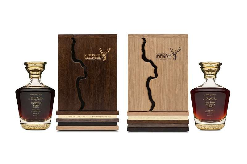 Gordon&MacPhail在2018年推出的朗摩(Longmorn)1961年威士忌原酒對酒,一組訂價120萬新台幣。(圖/廷漢提供)