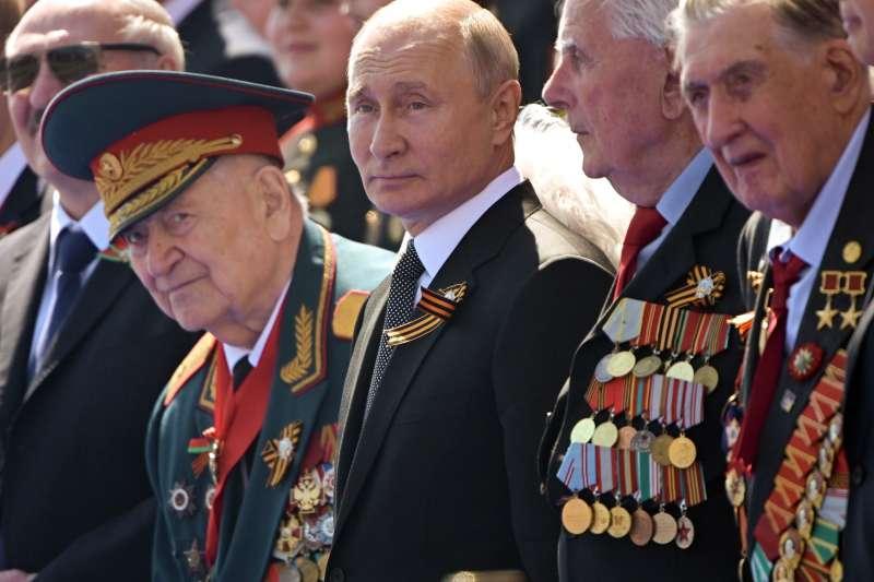 2020年6月25日,俄羅斯總統普京閱兵(AP)