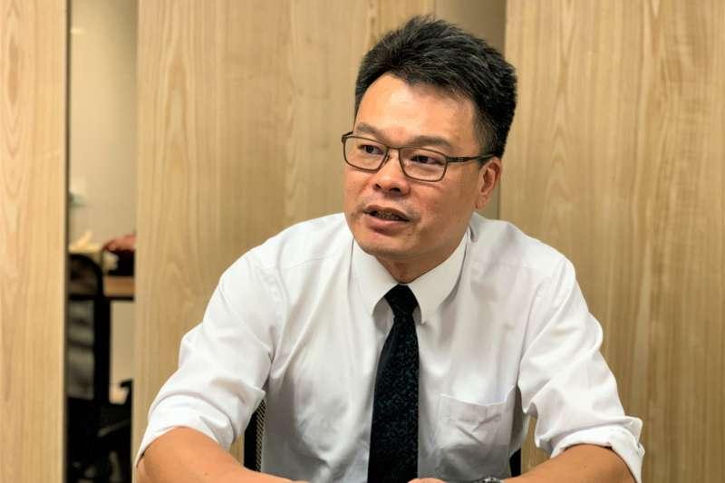 「香港抗爭者支援工作台灣義務律師團」發言人林俊宏(簡恒宇攝)