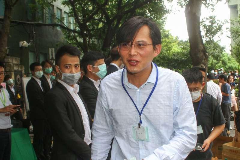 20200630-前立委黃國昌30日出席大同公司股東大會。(蔡親傑攝)
