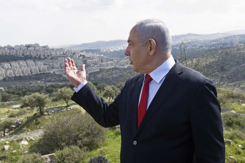 以色列總理納坦雅胡,矢志併吞約旦河西岸的巴勒斯坦人家園(AP)