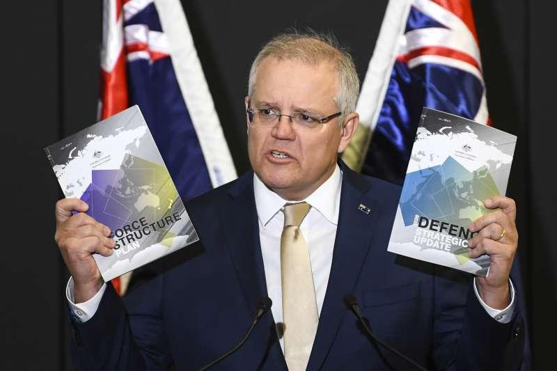 澳洲總理莫里森(Scott Morrison)公布最新國防戰略,目的是反制中國崛起(AP)