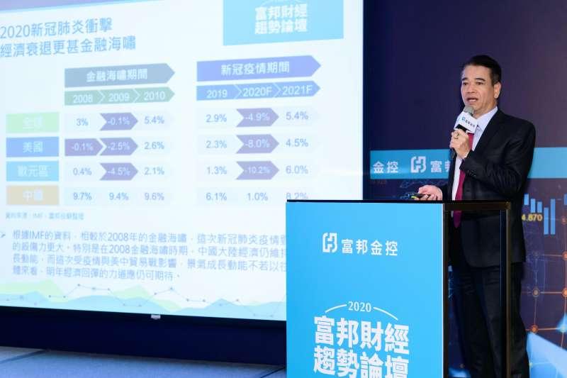 富邦投顧董事長蕭乾祥指出,下半年台股加權指數有望突破12682的歷史高點,挑戰12800。(圖/富邦金控提供)
