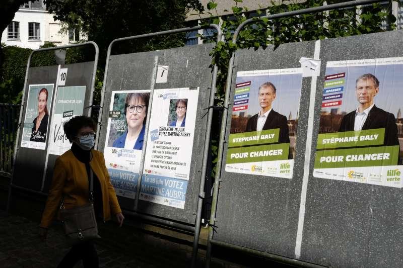 2020年6月,法國地方選舉(AP)