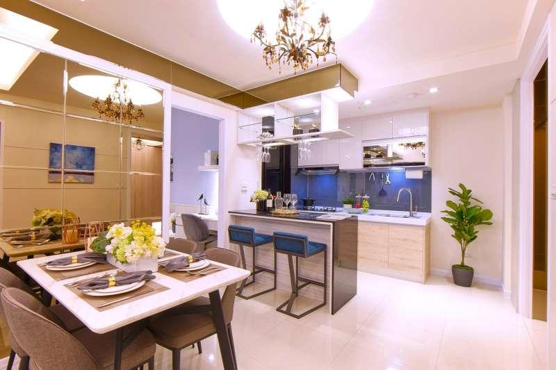建商打造室內零走道、零虛坪的最佳空間,讓使用面積增大。(圖/永合順建設提供)