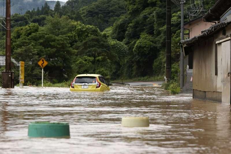 2020年7月4日,日本九州地區豪雨成災,熊本縣災情慘重(AP)