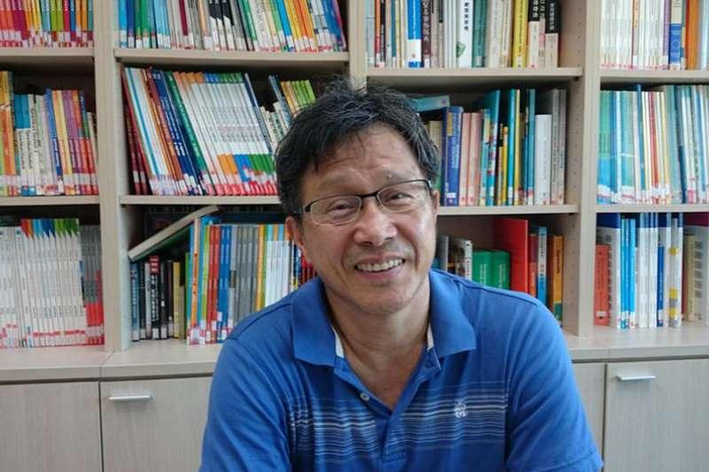 台灣駐德代表謝志偉在接受德國之聲電視台專訪(DW)