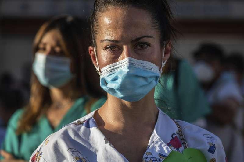 新冠肺炎。西班牙。口罩。(AP)