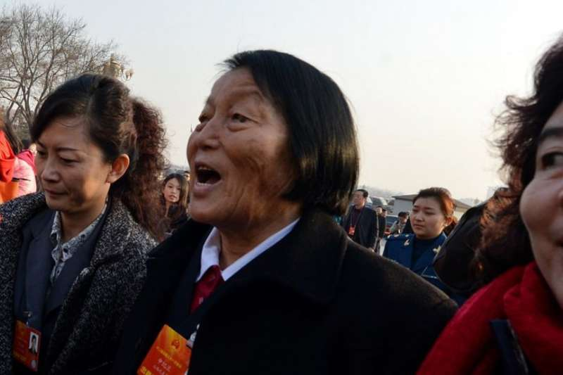 前中國全國人大代表申紀蘭。(美國之音)