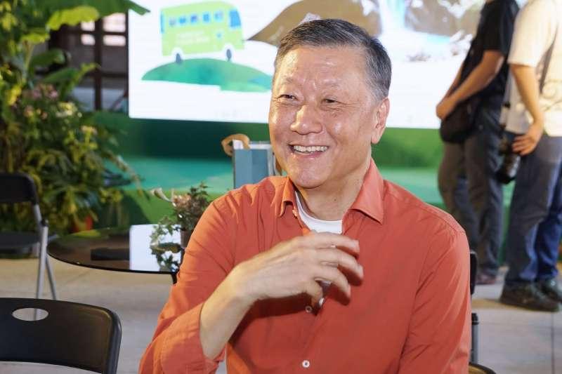 20200708-雄獅集團董事長王文傑8日出席「幸福.森在其中,天天行巴士啟動」記者會。(盧逸峰攝)