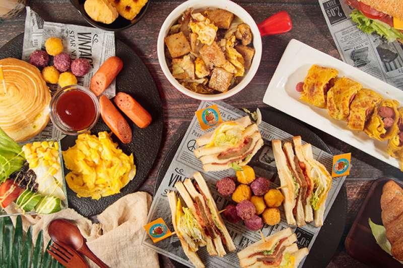 東區人氣早午餐,提供各樣特色獨家餐點。(圖/紅橘子提供)