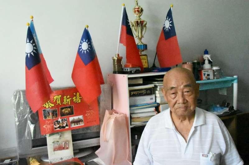 現居中彰榮家的楊增彥老先生,以身為捍衛中華民國的軍人為榮,雖然他來台灣的原因相當離奇。(許劍虹提供)