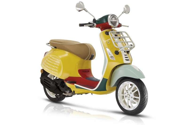 Vespa Primavera Sean Wotherspoon特仕版將在台灣上市,首批到港限量30台。(圖/業者提供)