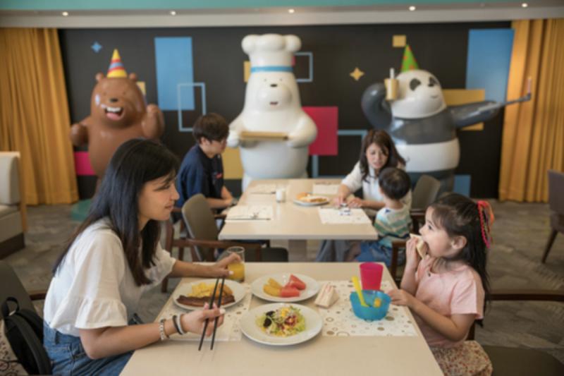 台南和逸飯店與卡通「熊熊遇見你」合作,推出主題下午茶。(圖/截圖自台南和逸飯店官網)