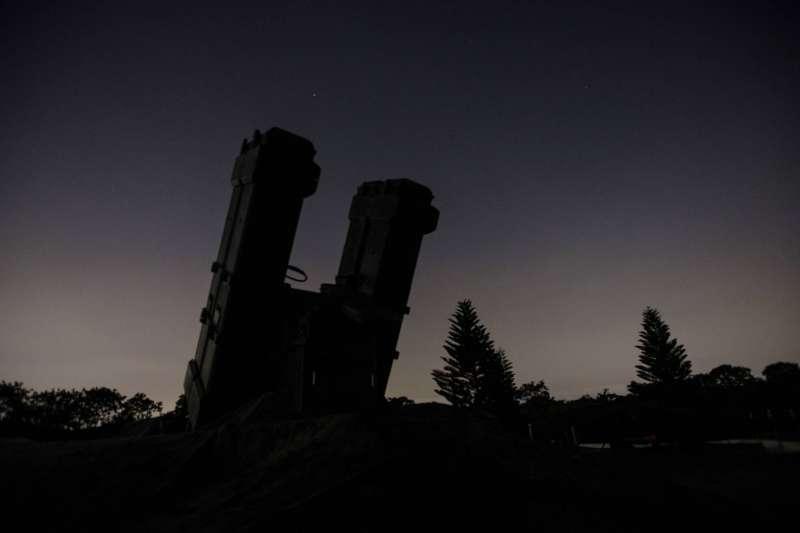 20200715-國軍漢光36號演習14日晚間執行「夜間防空攔截作戰」科目,圖為麻雀飛彈。(取自軍聞社)