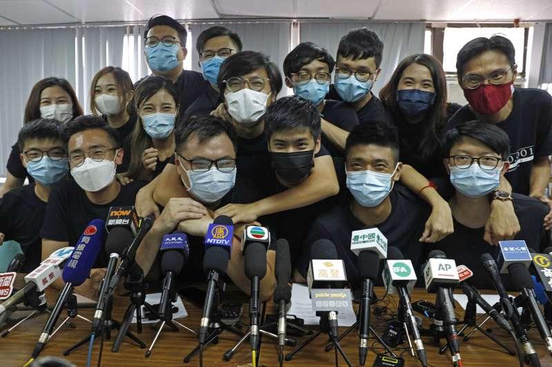 2020年7月15日,香港民主派人士為立法會選舉辦理初選(AP)