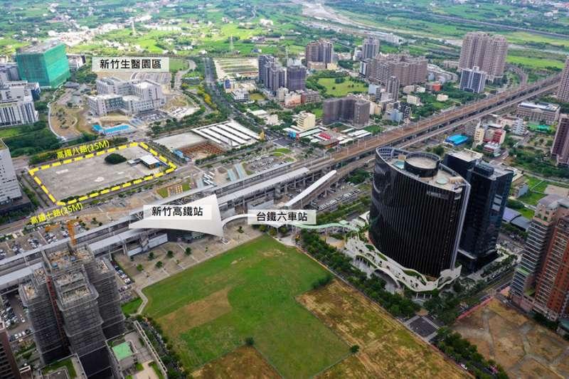交通部高鐵局竹北站5252坪地上權案,權利金底價為7.58億元。(圖/富比士地產王提供)