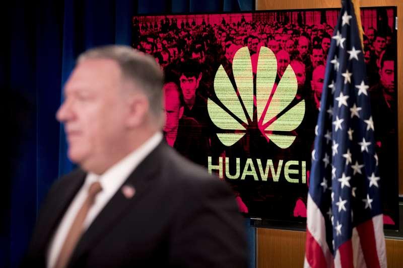 2020年7月15日,美國國務卿龐畢歐宣布,將對華為特定職員祭出簽證限制措施(AP)