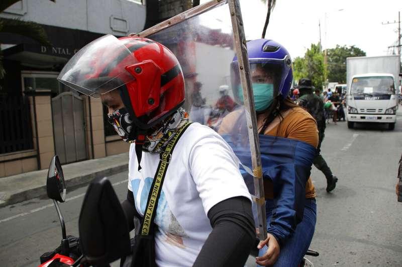 菲律賓新冠肺炎疫情嚴峻。(AP)