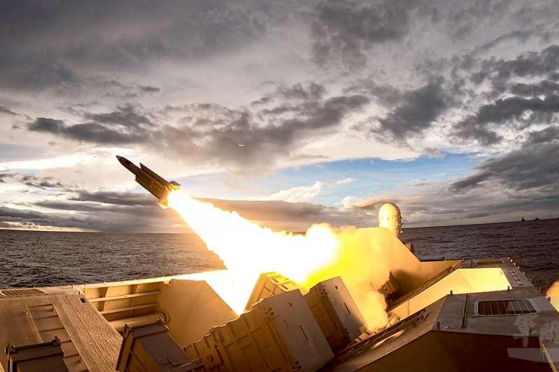 圖為漢光演習中的雄三反艦飛彈。(軍聞社提供 )