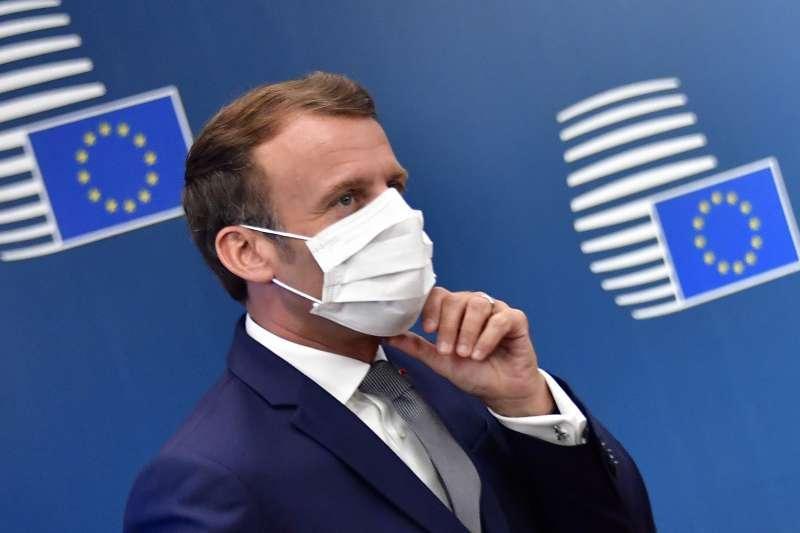 法國總統馬克宏確診武漢肺炎(新冠肺炎)。(AP)