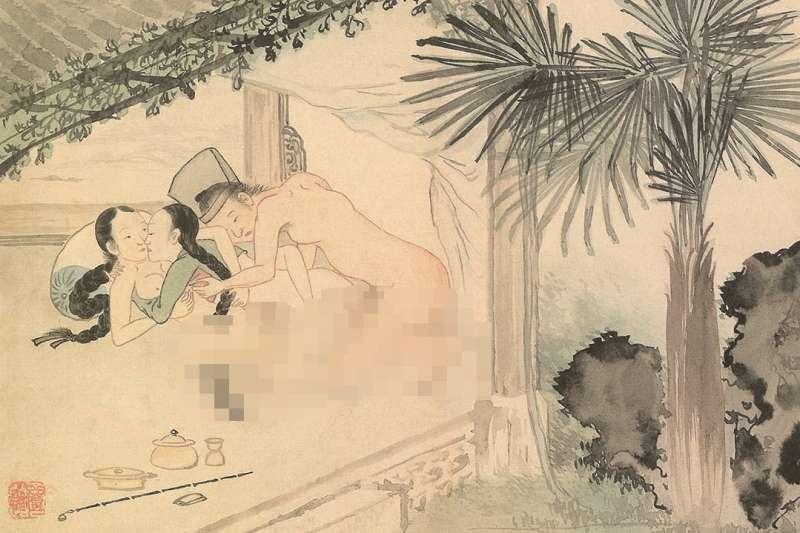 金弘道,選自《雲雨圖帖》(圖/創意市集提供)