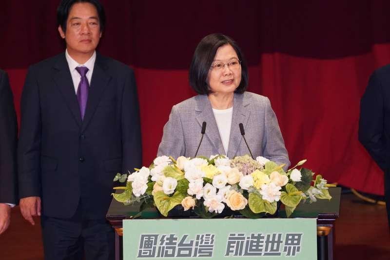 20200719-民進黨主席、總統蔡英文19日出席全代會。(盧逸峰攝)