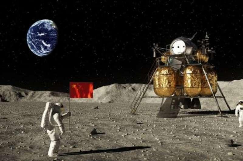 中國登月想像圖。(BBC中文網)