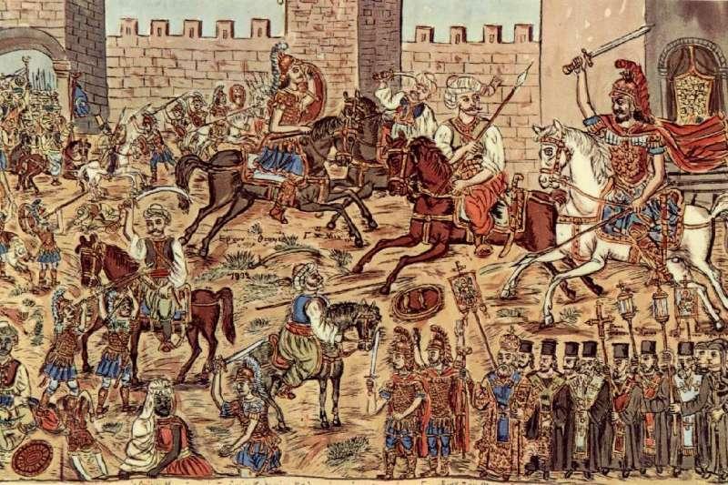 西元1453年,鄂圖曼帝國海陸大軍攻陷東羅馬帝國首都君士坦丁堡(Wikipedia / Public Domain)