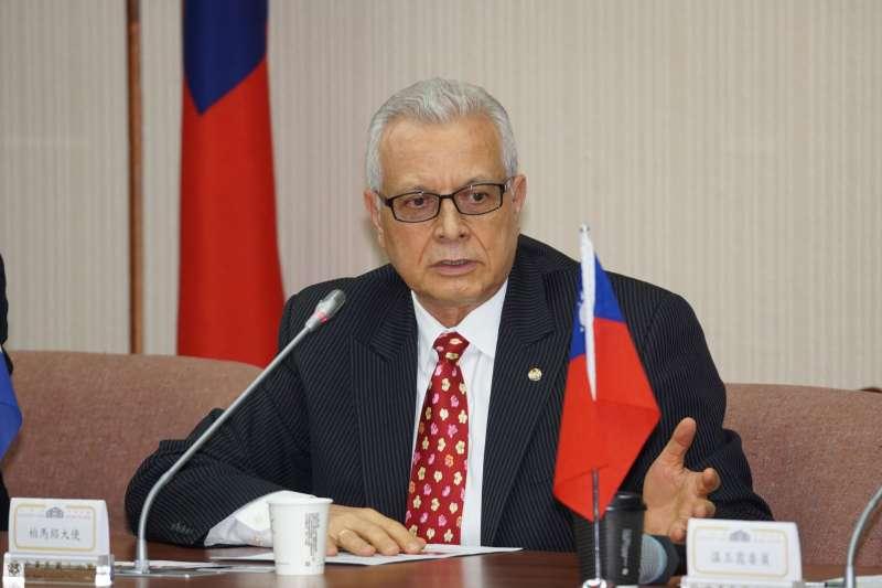 20200721-立委溫玉霞21日舉行「中華民國台灣與巴拉圭 國會議員友好協會」成立大會,巴拉圭駐台大使柏馬紹出席。(盧逸峰攝)