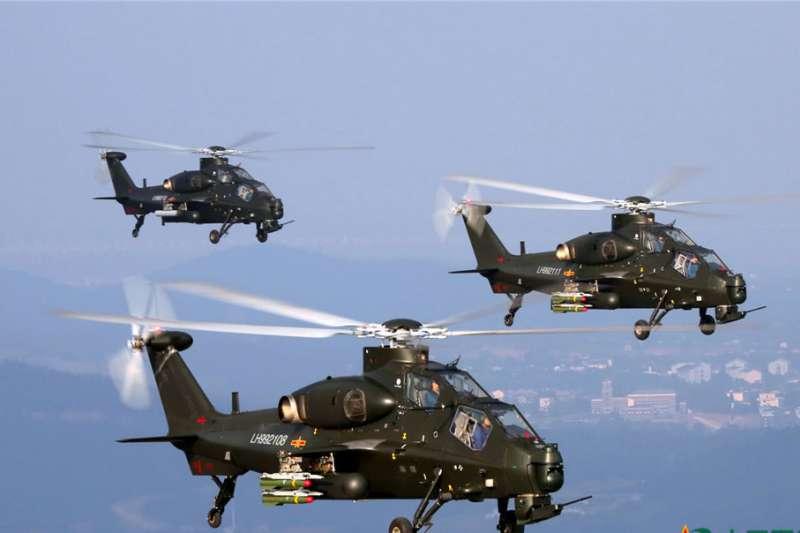 解放軍武裝直升機。(翻攝自中國軍網)