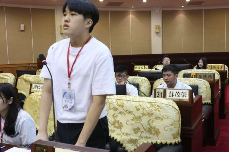 彰化縣議會舉行青年議事體驗營,讓學生了解議事運作。(圖/記者王秀禾攝)