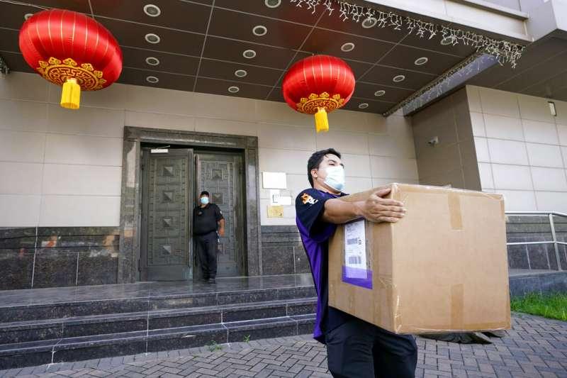 中國駐休士頓總領事館。(AP)