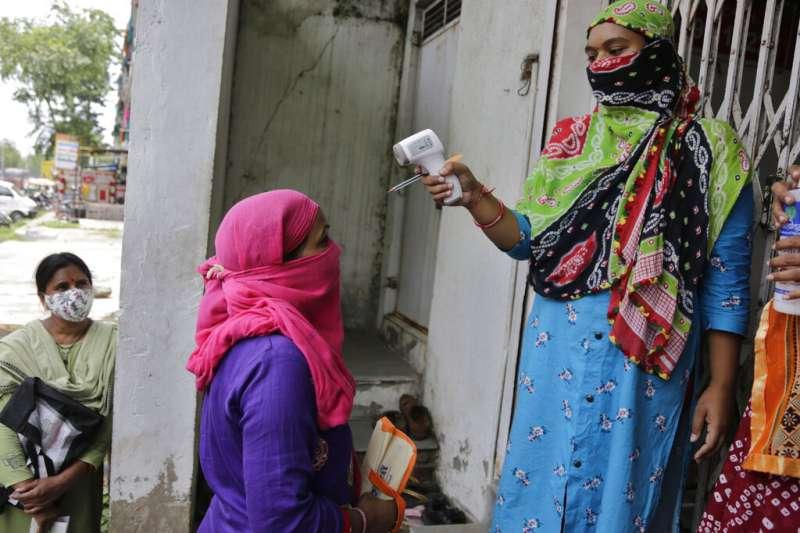 印度新冠肺炎疫情肆虐。(AP)