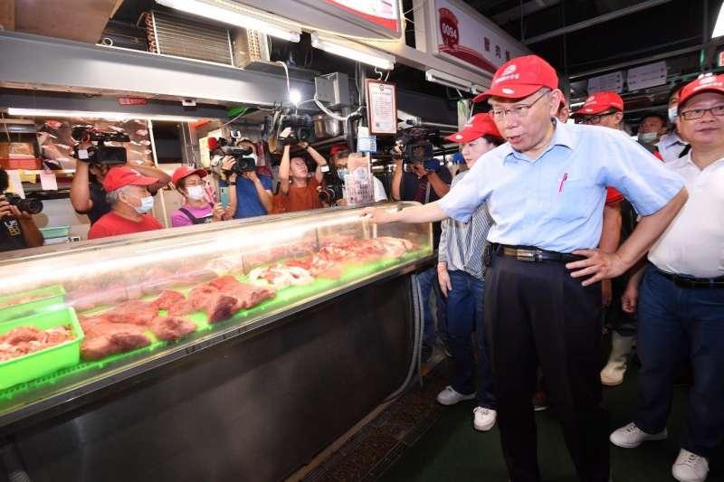 台北市環南市場完成改建工程,台北市長柯文哲(見圖)說,要努力讓環南市場成為全台最好的批發及零售市場。(台北市政府提供)