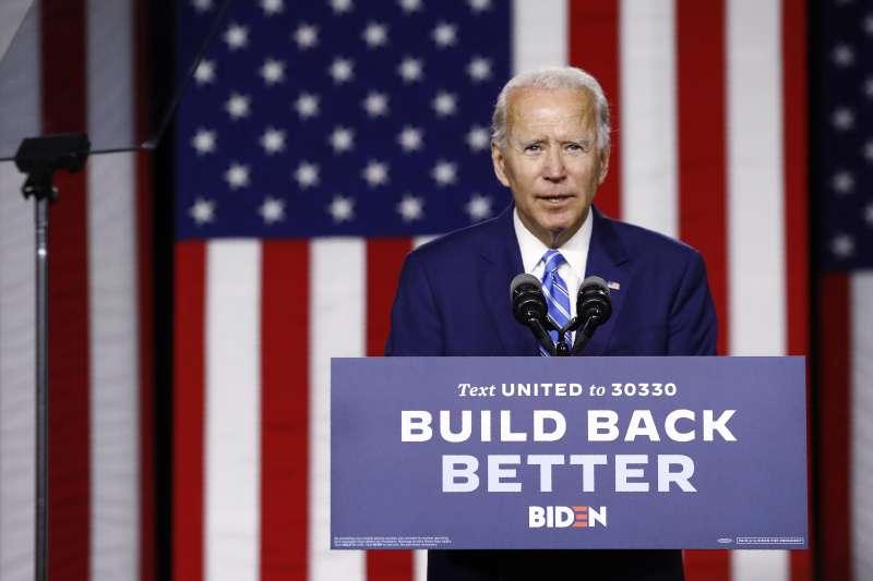 2020美國總統大選倒數百日:代表民主黨參選的拜登民調居於領先。(AP)
