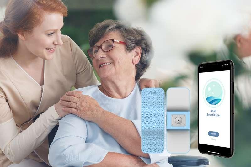 Opro9另外研發「成人智慧尿溼感知器」,符合長照或高齡照護需求(圖片來源:Opro9)
