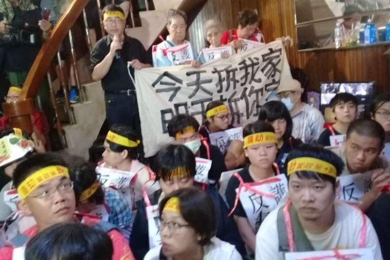 陳家在強拆前一天,已經有相當多聲援者提前到來。(朱淑娟提供)