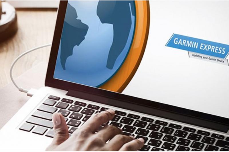 Garmin產品應用場景多元,包括運動、航海、航空以及車用,圖中的GARMIN EXPRESS軟體可搭配於地圖更新功能。(圖:Garmin官網)