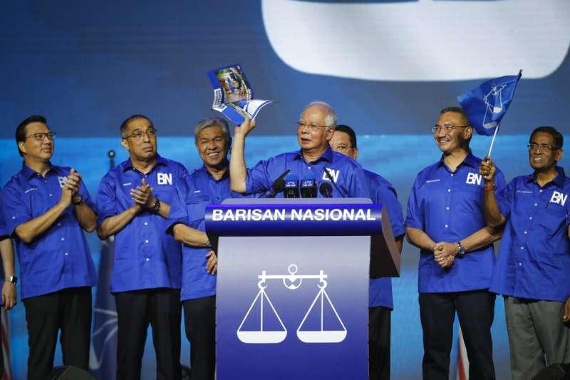 馬來西亞前總理納吉。(美聯社)